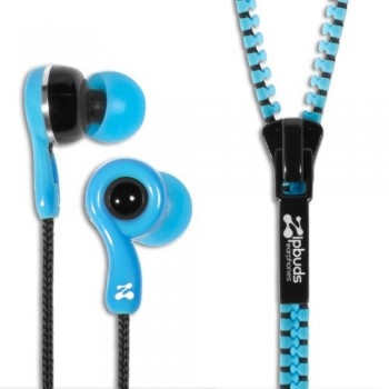 Zipbuds JUICED 2.0 Never Tangle Zipper Earbuds Featuring ComfortFit2 Technology, Blue image