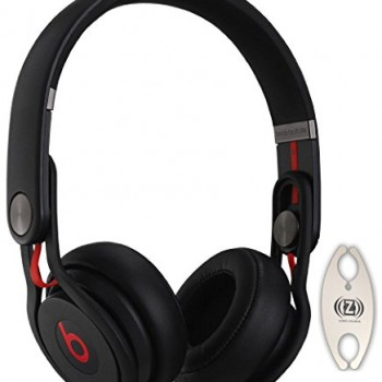 Beats by Dr. Dre Mixr Black DJ Headphones Carry Pack with Wire Holder image
