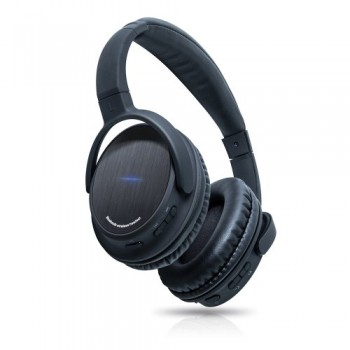 Photive BTH3 Bluetooth 4.0 Headphones with Built-in Mic and 12 Hour Battery. Includes Hard Travel Case. 2014 New Release image