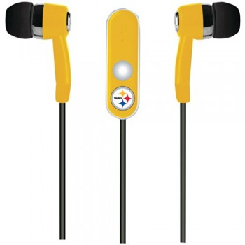 NFL Pittsburgh Steelers Hands Free Ear Buds with Microphone image