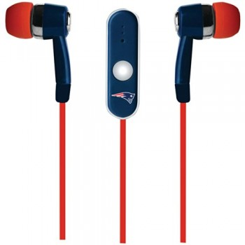 NFL New England Patriots Hands Free Ear Buds with Microphone image