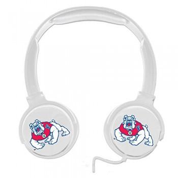 Fresno State Bulldogs Sonic Boom Headphones – White image