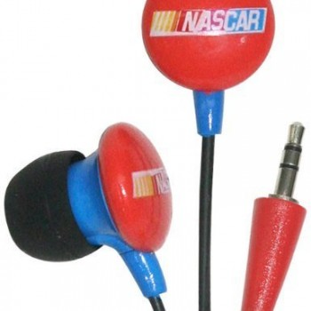 iHip RCF10265RE NASCAR Mini Ear Buds, Red image
