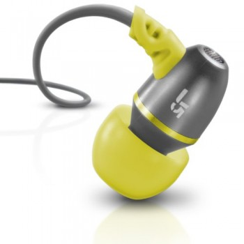 JLab JBuds J5 Metal Earbuds Style Headphones (Sport Yellow / Gray) image