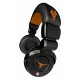 NCAA Texas Longhorns Pro DJ Headphones with Microphone thumbnail