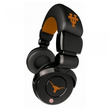 NCAA Texas Longhorns Pro DJ Headphones with Microphone image
