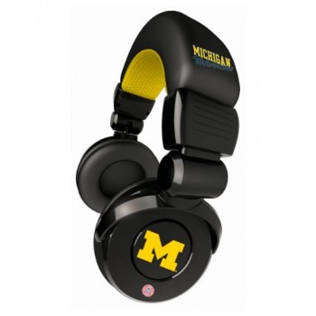 NCAA Michigan Wolverines Pro DJ Headphones with Microphone image