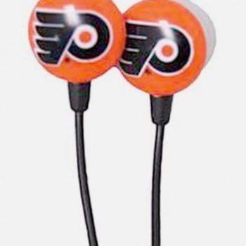 NHL Philadelphia Flyers IHip Boxed Ear Buds Premium Headphones Licensed! image