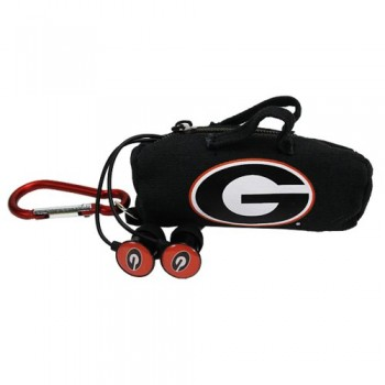NCAA Georgia Bulldogs Scorch Earbuds with Bud Bag image