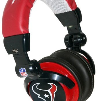 iHip NFH22HT NFL Houston Texans DJ Style Headphones- Blue/Red image