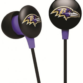 NFL Baltimore Ravens IHip Black Box Ear Buds Premium Headphones Licensed! image