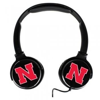 Nebraska Cornhuskers Sonic Boom Headphones image