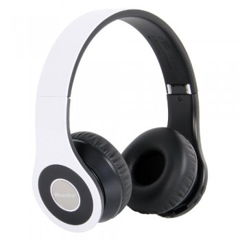 Bluedio Model B – Wireless and Bluetooth Headphones w/ FM Radio/ SD Card-(White) image