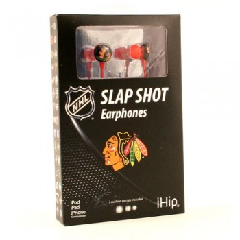 NHL Chicago Blackhawks Team Logo iHip Ear buds (iPod, iPad, iPhone Compatible) image