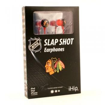 NHL Chicago Blackhawks Team Logo iHip Ear buds (iPod, iPad, iPhone Compatible) image