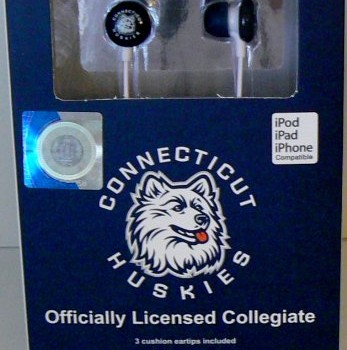 NCAA Officially Licensed Connecticut Huskies Earphones from IHip image