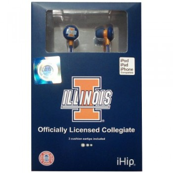 NCAA – Illinois Fighting Illini iHip Earphones – Ear Buds – Headphones image