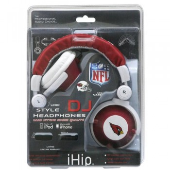 NFL Arizona Cardinals Team Logo DJ Headphone image