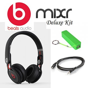 Beats by Dr. Dre Mixr – Lightweight DJ Headphones (Black) Starter Kit image