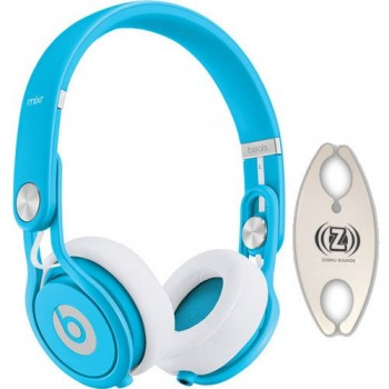 Beats by Dr. Dre Mixr Blue DJ Headphones Carry Pack with Wire Holder image