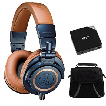 Audio-Technica ATH-M50X Blue Professional Headphones – LIMITED SPECIAL EDITION Ultimate Bundle image
